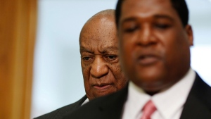 Bill Cosby arrives at the Montgomery County Courthouse for a preliminary hearing, on May 24, 2016, in Norristown, Pa. (Dominick Reuter / Pool Photo via AP)