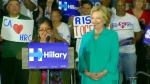 Clinton holds rally in California