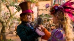 "In this image released by Disney, Johnny Depp, left, and Mia Wasikowska appear in a scene from ""Alice Through The Looking Glass."" (Peter Mountain/Disney via AP, File)"