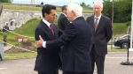 President Nieto arrives in Quebec