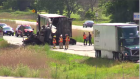 Fatal crash on Highway 402 near Wonderland Road on Monday, June 27, 2016