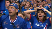 Iceland fans react to second goal against England
