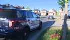 A child was struck on Steepleridge Street in Kitchener Wednesday evening