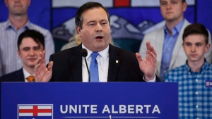 Alberta Conservative MP Jason Kenney announces he will be seeking the leadership of Alberta's Progressive Conservative party in Calgary, Alta., Wednesday, July 6, 2016. (Jeff McIntosh / THE CANADIAN PRESS)