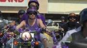 Hundreds of riders show up in Woodstock decked out in purple for the 5th memorial ride in honour of slain seven-year-old Tori Stafford. July 23, 2016