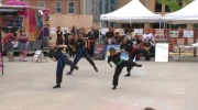 Kung Fu students show off their skills in Uptown Waterloo festival