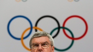 In this Monday, Aug. 3, 2015 file photo, International Olympic Committee President Thomas Bach speaks at a press conference after the 128th IOC session in Kuala Lumpur, Malaysia. (AP / Joshua Paul, File)