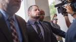 Toronto Police Const. James Forcillo arrives at a Toronto courthouse on July 28, 2016. (Michelle Siu / THE CANADIAN PRESS)