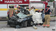 One person dies in crash near Hamilton Thursday evening
