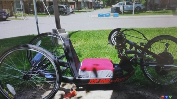 CTV Kitchener: Mobility hand bike stolen from yard