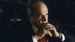 "Actor Steven Hill is seen as D.A. Adam Schiff in a scene from ""Law & Order"" in 1998. (Jessica Burstein / NBCU Photo Bank)"