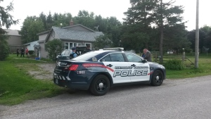 Police investigate at the former home of Linda and Cheyenne Daniel, on Hessen Strasse near St. Clements, on Wednesday, Aug. 24, 2016. (Terry Kelly / CTV Kitchener)