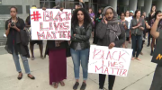 Black Lives Matter protesters rally at Kitchener City Hall and at police station