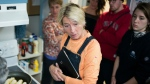 Actress Emma Thompson helps bring solar panels to