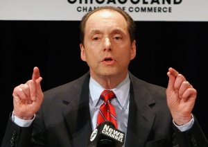In this March 7, 2006 file photo, Ron Gidwitz speaks in Springfield, Ill.  (AP / Seth Perlman)