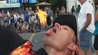 CTV Kitchener: Fire-swallowing demonstration