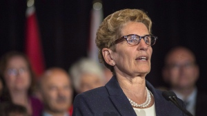 Ontario Premier Kathleen Wynne at Queen's Park in Toronto, on June 13 , 2016. (Eduardo Lima / The Canadian Press)