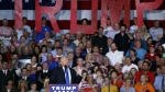 In this Tuesday, Sept. 20, 2016 file photo, Republican presidential candidate Donald Trump speaks during a campaign rally in Kenansville, N.C. (AP / Evan Vucci, File)