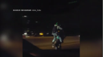 Motorist captures group of motorcyclists performing stunts on Highway 401