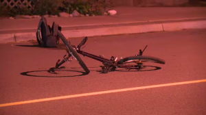 Bicycle involved in collision on Grand Avenue in Cambridge on Tuesday, September 27, 2016