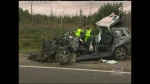 CTV Kitchener: SUV slams into truck in 401 crash