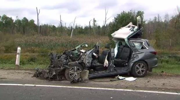 401 crash near Cambridge