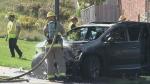 CTV Kitchener: Car lands on lawn