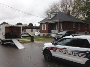 Police searched a home on Ferguson Street in Guelph as part of an investigation into drugs and stolen goods on Friday, Oct. 21, 2016. (Kevin Doerr / CTV Kitchener)