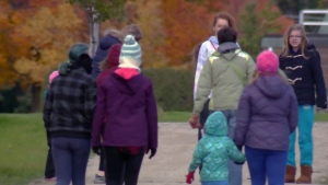 About 200 Girl Guides and family members took part in the Hike for Hunger event at Bechtel Park in Wateroo on Saturday, Oct. 22, 2016.