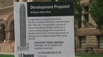 A development proposal to build a 90-storey residential tower at Toronto's Old City Hall is shown Sunday, Oct. 23, 2016.