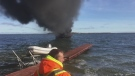 CTV Barrie: Man escapes boat fire