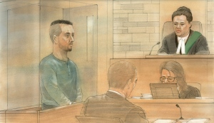 Ahmed Darwish makes his first appearance in Kitchener court on Monday, Nov. 28, 2016. (John Mantha / CTV News)