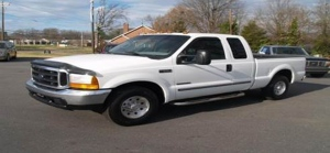Police are seeking a white truck similar to the Ford F-250 pictured here in connection with their investigation into a fatal hit-and-run crash in Cambridge. (Waterloo Regional Police)