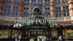 """Palace Theatre promotes its new show """"Harry Potter and the Cursed Child."""" © DANIEL LEAL-OLIVAS / AFP"""