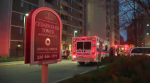 Two firefighters were sent to hospital after high carbon monoxide levels were detected in a high rise on Sunday, Dec. 4, 2016