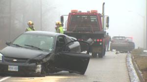 No injuries after a three car crash in Kitchener. (Jan. 21, 2017)