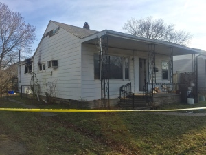 Man pulled from burning home at 1338 Curry Ave. on Saturday, Jan. 21, 2017 is listed in critical condition. (Alana Hadadean / CTV Windsor)