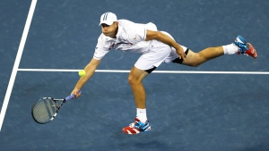 Andy Roddick at the 2012 US Open tennis tournament in New York. (Mike Groll / AP)
