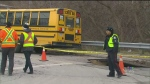 CTV Toronto: School bus falls in sinkhole