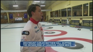 Hard night for Hall rink at junior curling tourney