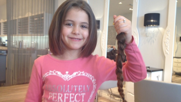 6 Year Old Girl Gets First Haircut To Help Cancer Patient Ctv News