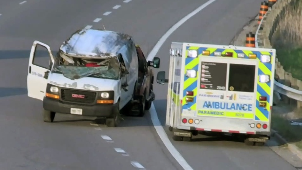 Rush-hour rollover crash on Highway 85 | CTV News Kitchener