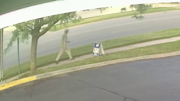 A still from a surveillance video