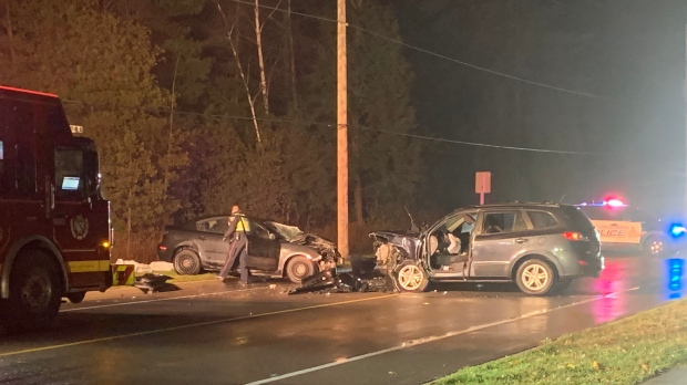 Two-vehicle collision leaves driver with serious i