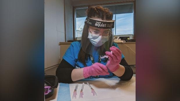 Olivia Joy McPherson pulls vaccine dose