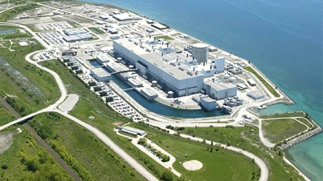 The Darlington Nuclear Generating Station is Ontario Power Generation's newest CANDU (CANadian Deuterium Uranium) nuclear generating station. It is a 4-unit station with a total output of 3,524 megawatts (MW) and is located in the Municipality of Clarington in Durham Region, 70 km east of Toronto.