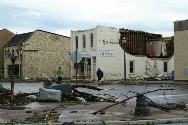 A tornado hit Goderich on Sunday, August 21, 2011.