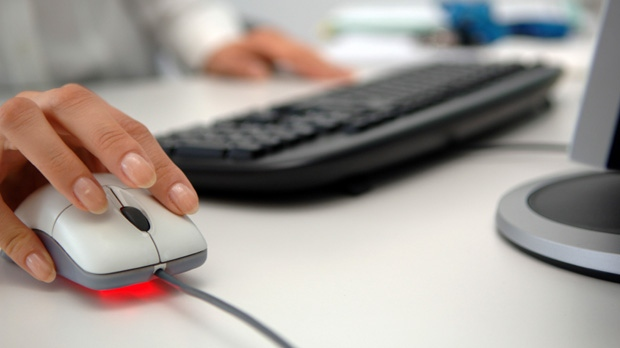 Using a computer mouse