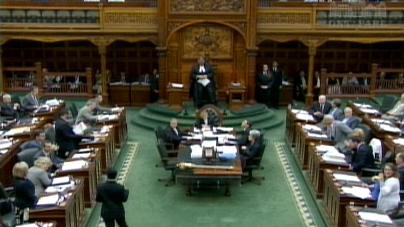 MPPs sit in the Ontario legislature ahead of a vote on the provincial budget on Wednesday, June 20, 2012.