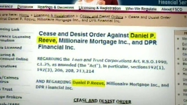 Daniel P. Reeve Cease and Desist Order